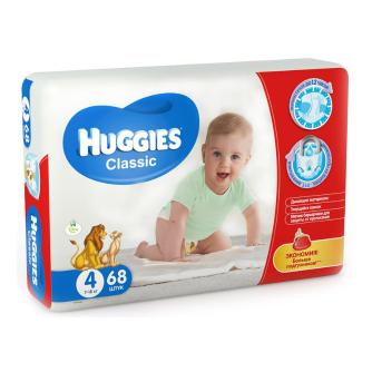 Подгузники Huggies Classic 4 (7-18 кг) 68 шт bd884e83e0f