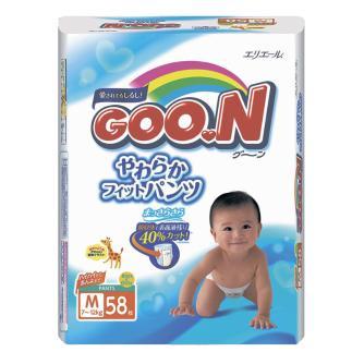 Подгузники-трусики Goon M (7-12 кг) 58 шт fc083c108f3