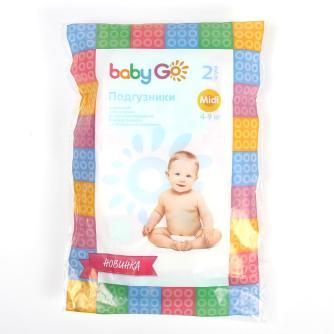 Подгузники BabyGo размер Midi 2 шт (4-9 кг) 040c22ab0b8
