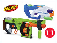 При покупке NERF Zombie Strike или Super Soaker — второй товар в подарок!