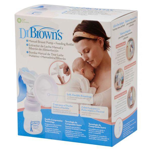 Молокоотсос ручной + бутылочка Dr Brown's Детский мир 2290.000