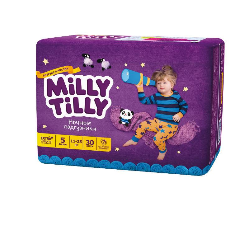 Ночные подгузники Milly Tilly Юниор 5(11-25 кг) 30 шт. - это правильный выбор. Производитель Milly Tilly - это быстрая доставка и гарантии.
