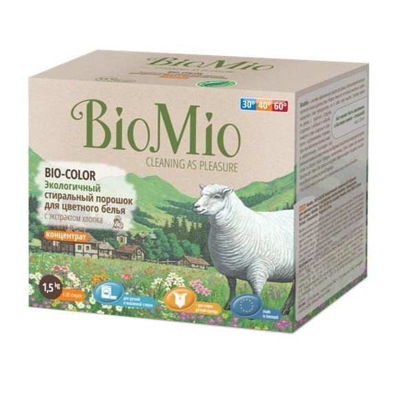 Экологичный стиральный порошок для цветного белья BioMio Детский мир 385.000