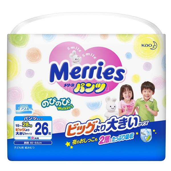 Трусики-подгузники Merries Детский мир 929.000