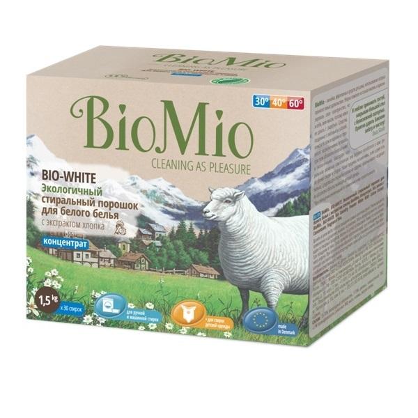 Экологичный стиральный порошок для белого белья BioMio Детский мир 390.000