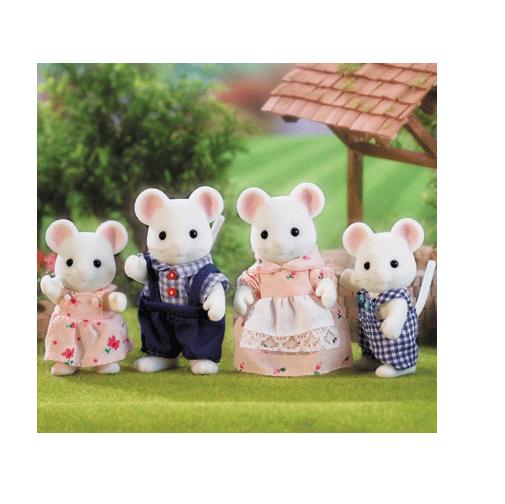 Семья белых мышей Sylvanian Families Детский мир