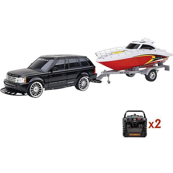 Машина с катером на р/у Range Rover Sport + Sea Ray Boat 1:10